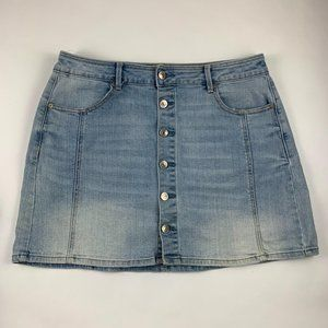 American Eagle Hi Rise A Line Denim Skirt 14
